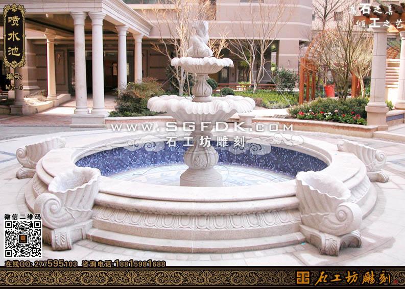 石头水池欧式喷水池